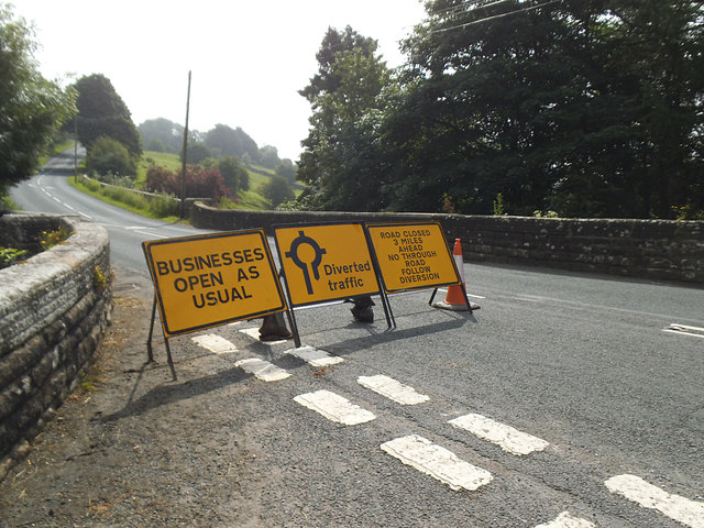 Road Closed in Hebden