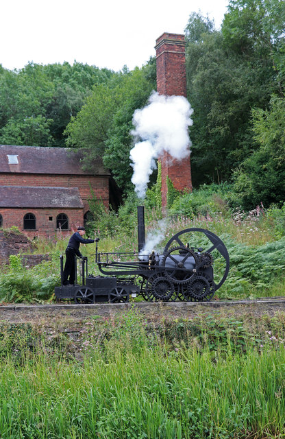 Blists Hill Victorian Town - replica Trevithick locomotive