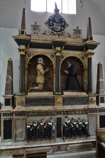 Dorney Court: Church of St. James the Less: Memorial to Sir William Gerrard (d.1607)