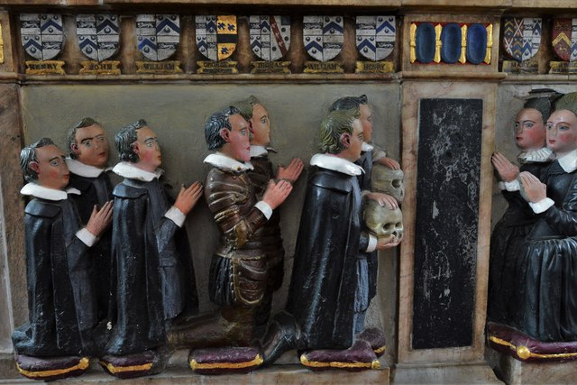 Dorney Court: Church of St. James the Less: Memorial to Sir William Gerrard (d.1607)