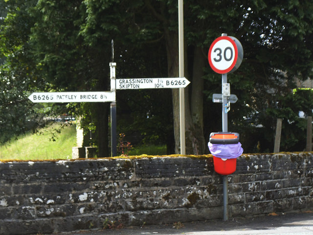 Signpost in Hebden