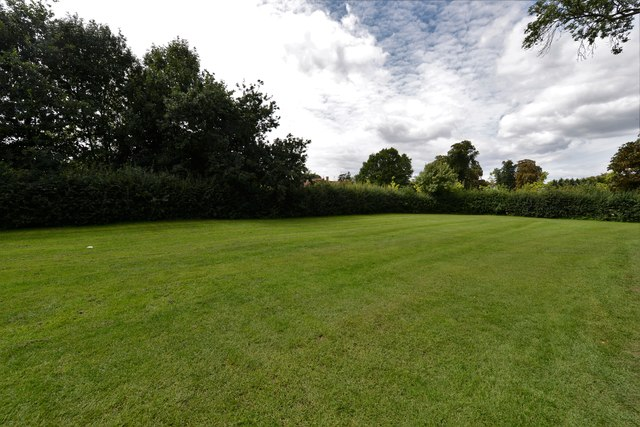 Dorney Court: Section of lawn used for overflow parking