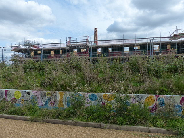 Constructing houses at the Abbey Meadows