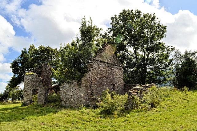 Ruined house, Llanveynoe