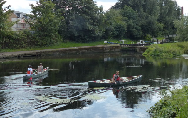 Canoeists on the River Soar/Grand Union Canal