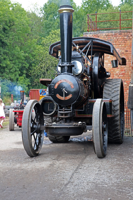 Blists Hill Victorian Village - steam road locomotive