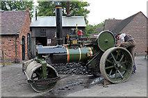 SJ6903 : Blists Hill Victorian Town - steam roller by Chris Allen
