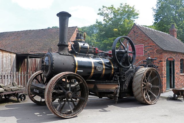 Blists Hill Victorian Town - ploughing engine