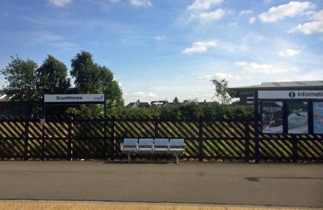 Scunthorpe railway station platform
