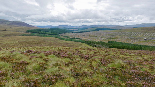 View towards the Abhainn Glac an t-Seilich