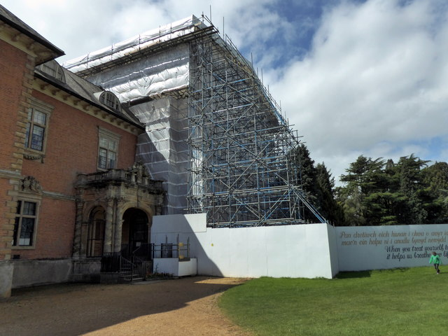 Tredegar House under Scaffolding