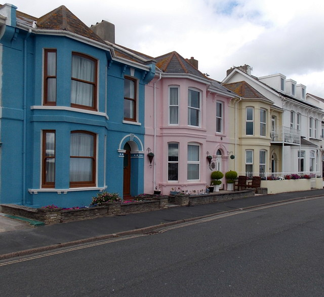 Colourful seafront houses, Exmouth