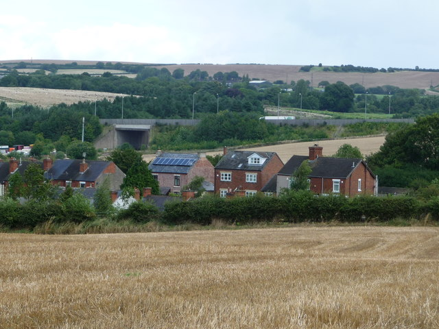 Houses on the east side of Station Road