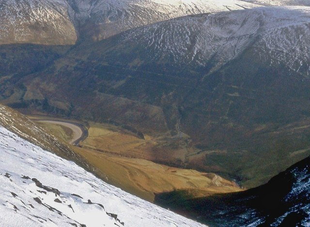 An 'aerial' view of Glen Roy