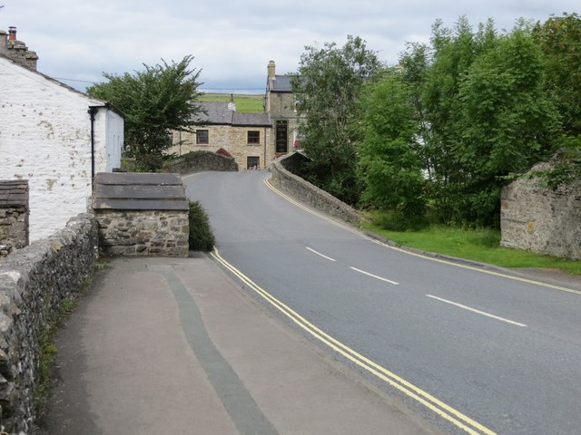 Road (B6479) passing through Horton in Ribblesdale