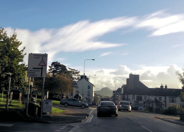 Main crossroads in Criccieth