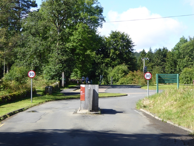 Toll road pay point at Kielder Castle