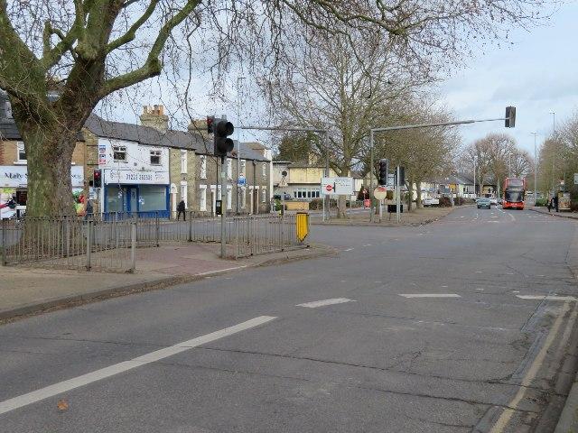 Newmarket Road exiting Cambridge