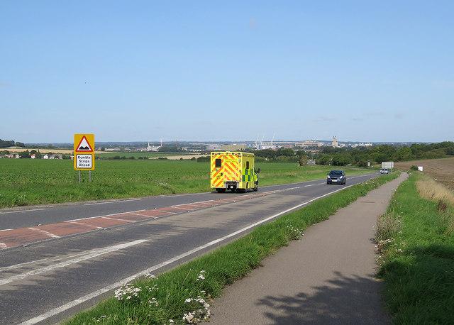 Towards the southern edge of Cambridge