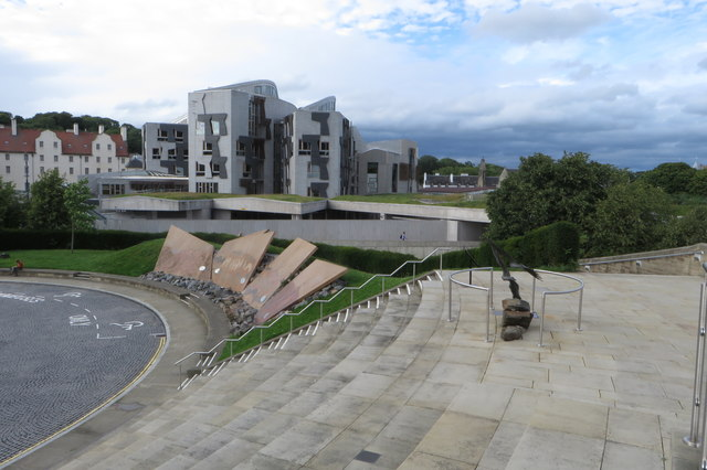 Scottish parliament building from Dynamic Earth