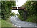SK4854 : Disused railway bridge crossing Park Lane by Christine Johnstone