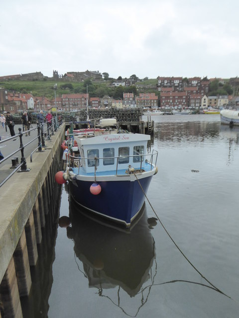 'Crystal Sea' moored in Whitby Upper Harbour