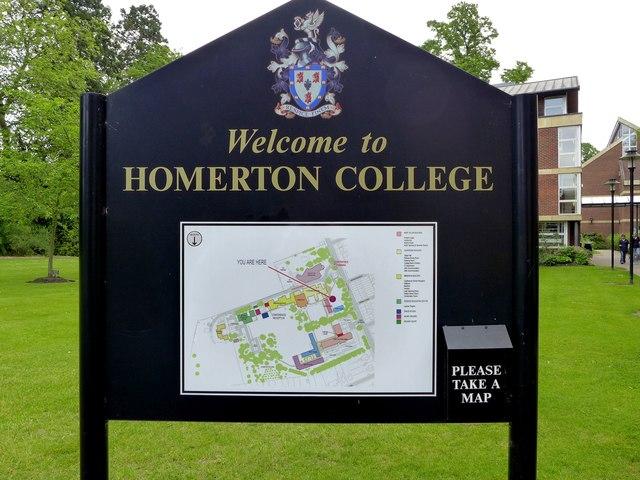 Homerton College - information board