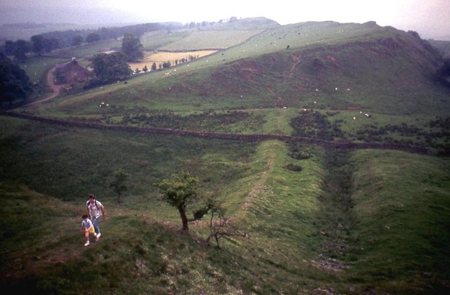 Course of Hadrian's Wall at Walltown
