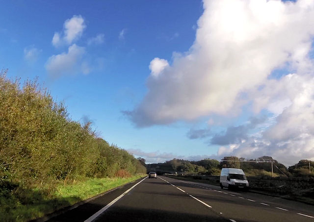 A487 by southbound layby