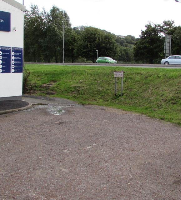 No parking sign near Middletons, Malpas, Newport