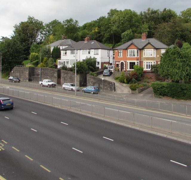 Houses above Malpas Road, Newport
