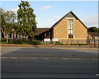 ST3090 : West side of Malpas Community Centre, Newport by Jaggery