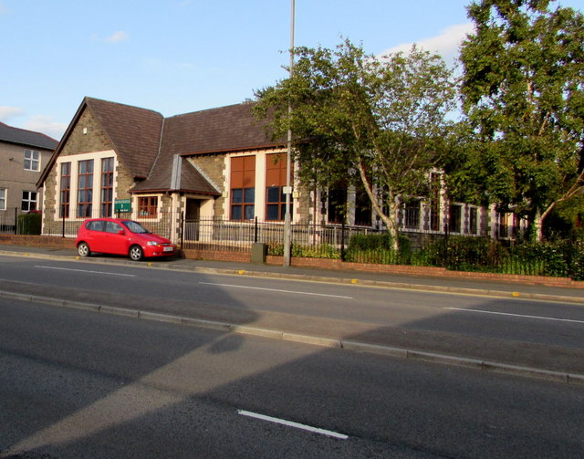 West side of Malpas Library & Information Service,  Newport