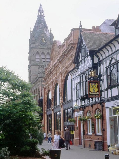 Library and Town Hall Spire, Northgate, Chester