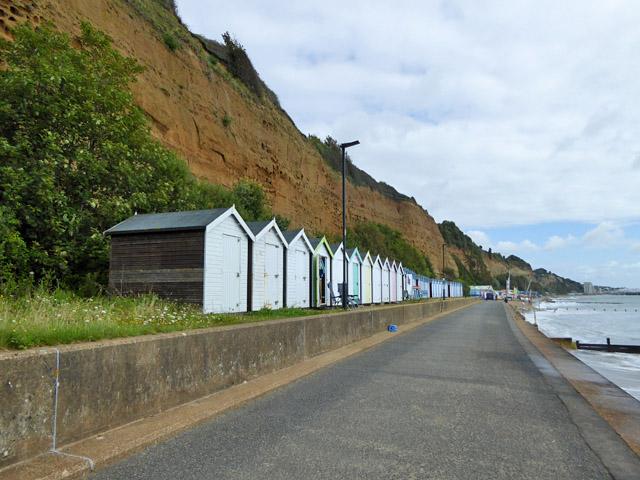 Beach huts below Lake Cliff