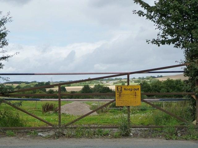 'Danger Keep Out' sign on Park Lane