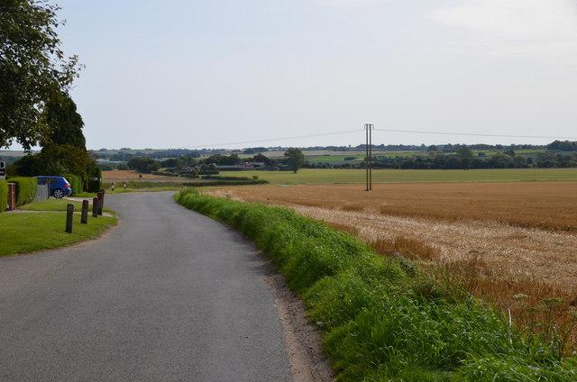 Lane towards the A153