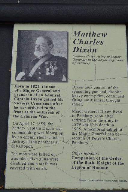 Victoria Cross Grove - Matthew Charles Dixon VC