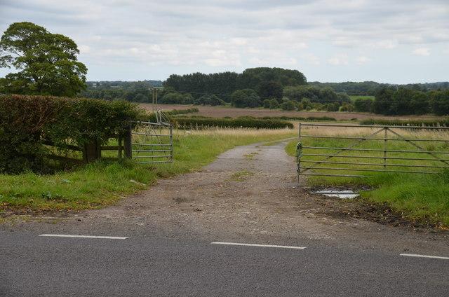Farm track off the B1191