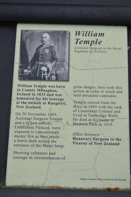 Victoria Cross Grove - William Temple VC