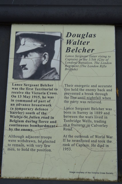 Victoria Cross Grove - Douglas Walter Belcher VC