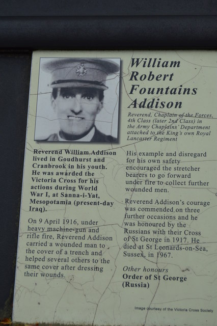Victoria Cross Grove - William Robert Fountains Addison VC