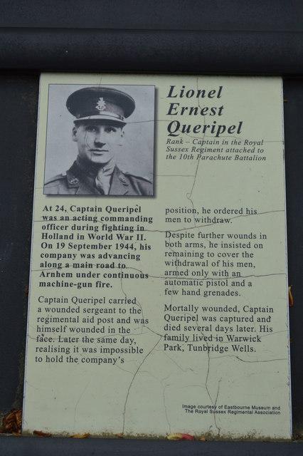 Victoria Cross Grove - Lionel Ernest Queripel VC