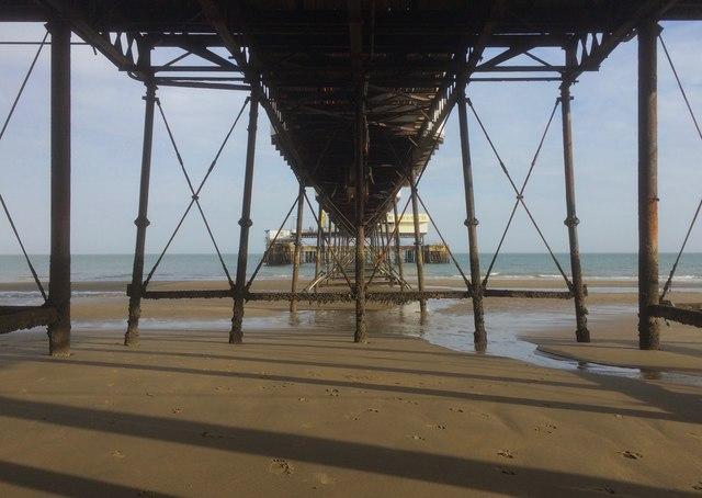 Under Sandown Pier at low tide