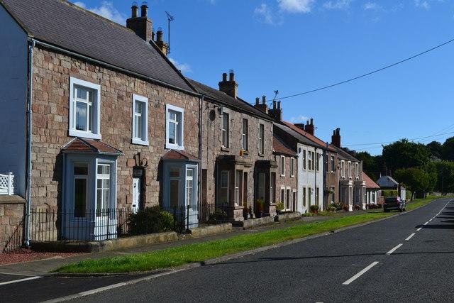 Houses in Castle Street, Norham