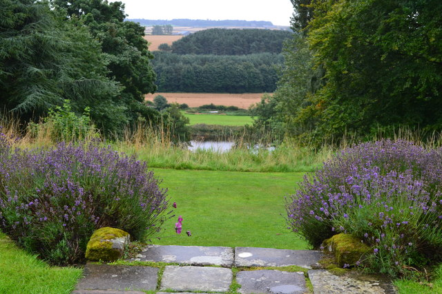 View over the lawns and River Tweed from Paxton House