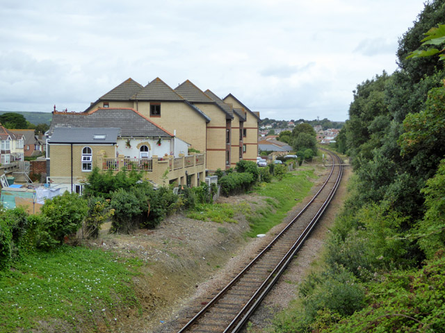 Bay View Court and railway towards Ryde