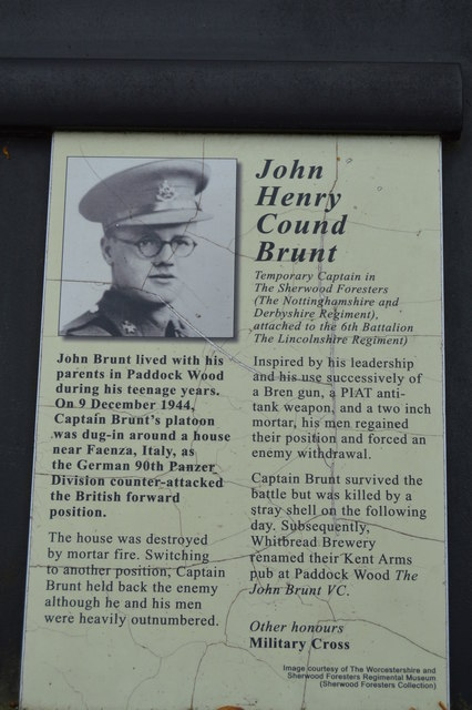 Victoria Cross Grove - John Henry Cound Brunt VC