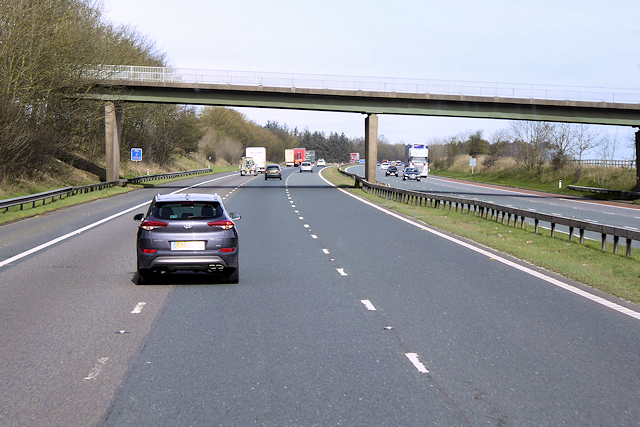 Northbound M6, Wooloaks Bridge