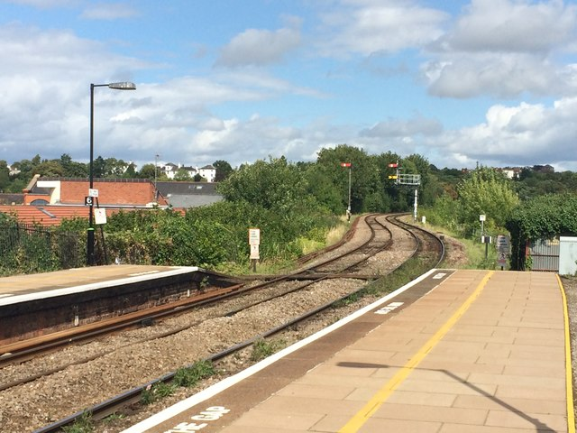 Railway Line East from Worcester Foregate Street